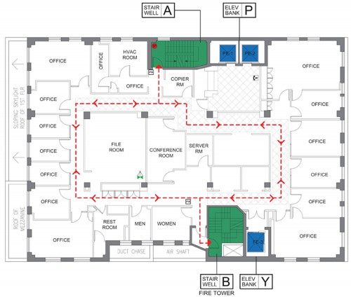 Floor Plans for Commercial Properties | Croker Fire Drill
